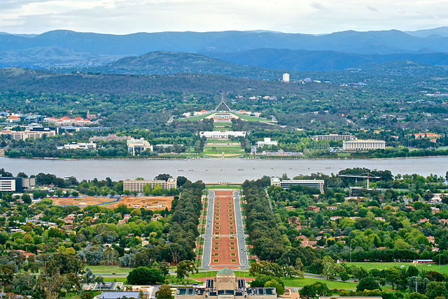 Canberra viewed from Mount Ainslie - Source: Wikipedia